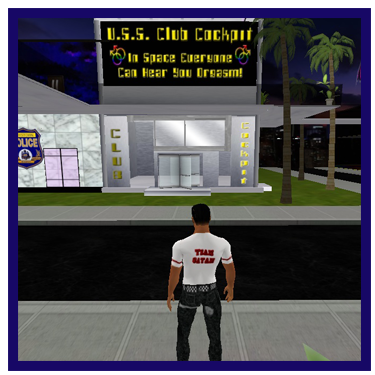 Gay virtual night club located in the gay virtual world Uther Boystown
