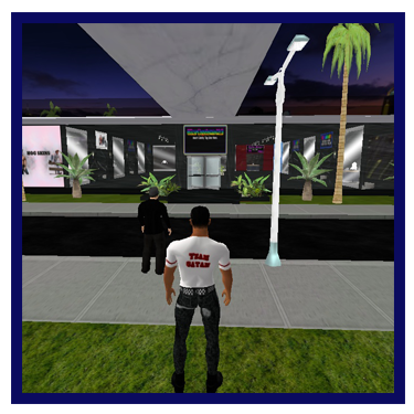 Gay virtual mall located in the 3D chat cyber sex game Uther Boystown